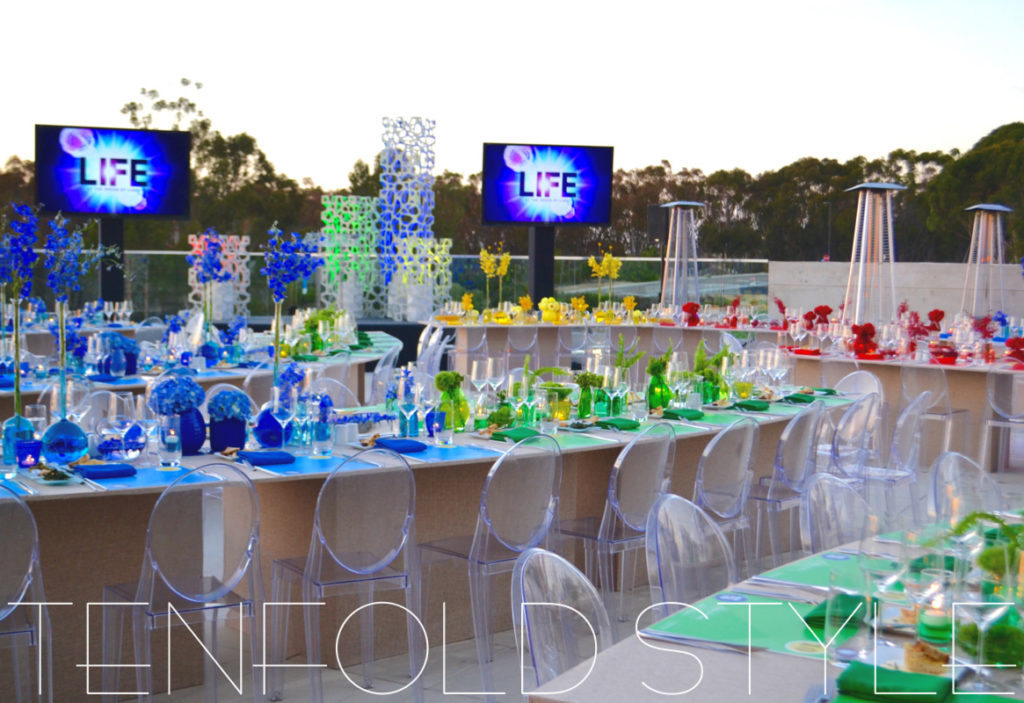Rainbow event design Tenfold Style