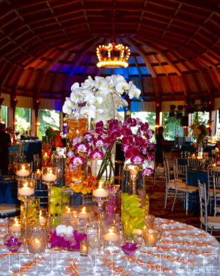 Tropical wedding reception