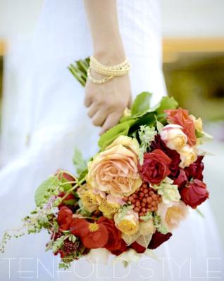 Garden blush tone bridal bouquet