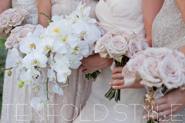 Dusty Rose bouquets Tenfold Style