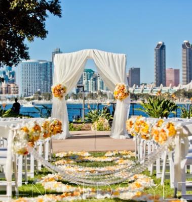San Diego skyline wedding