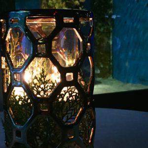 Modern Gold Candleholder