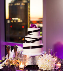 Black and white wedding cake Jeremy Young Photography