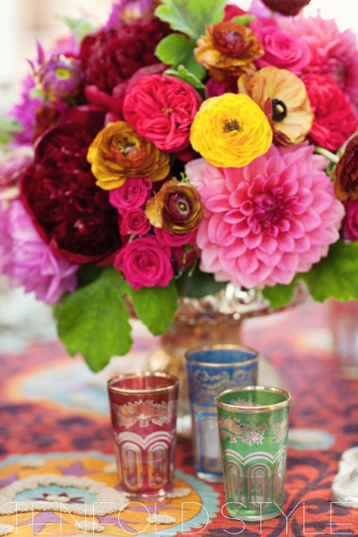 Moroccan Centerpiece Peonies Tenfold Style