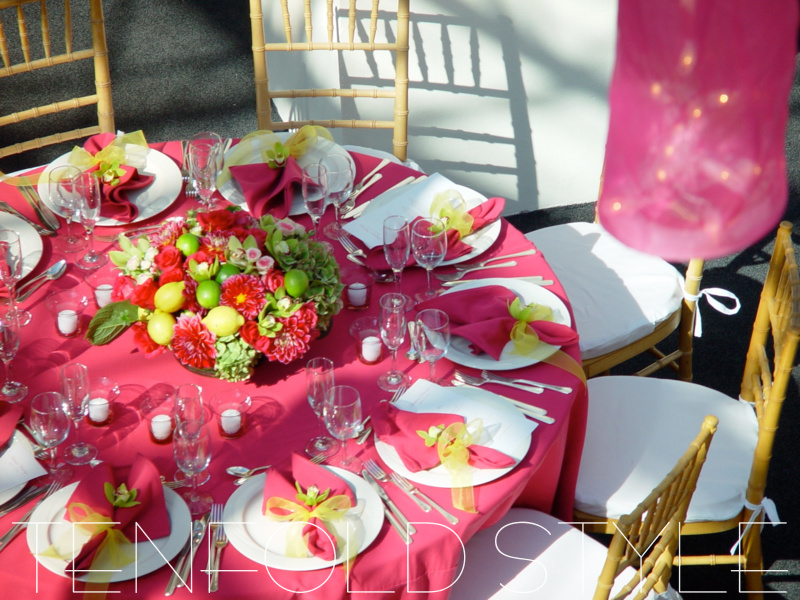 Pink Wedding Bright Colors Tenfold Style