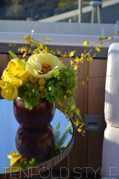 Yellow flower arrangement Tenfold Style