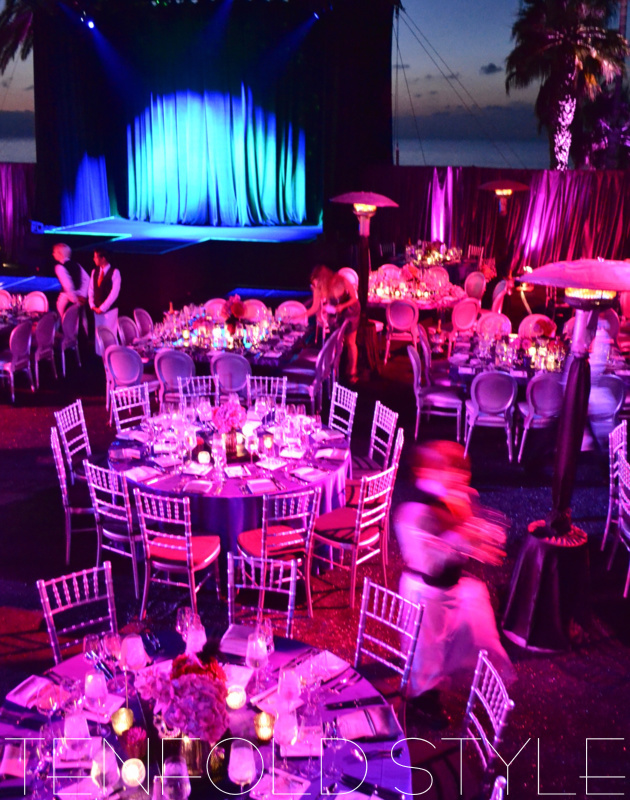 Dramatic lighting for gala Tenfold Style
