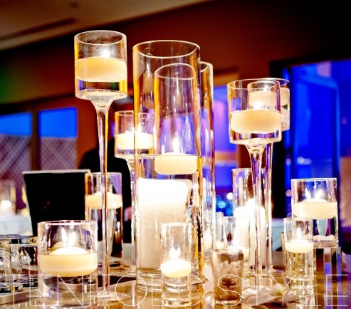 candle collection centerpiece Tenfold Style