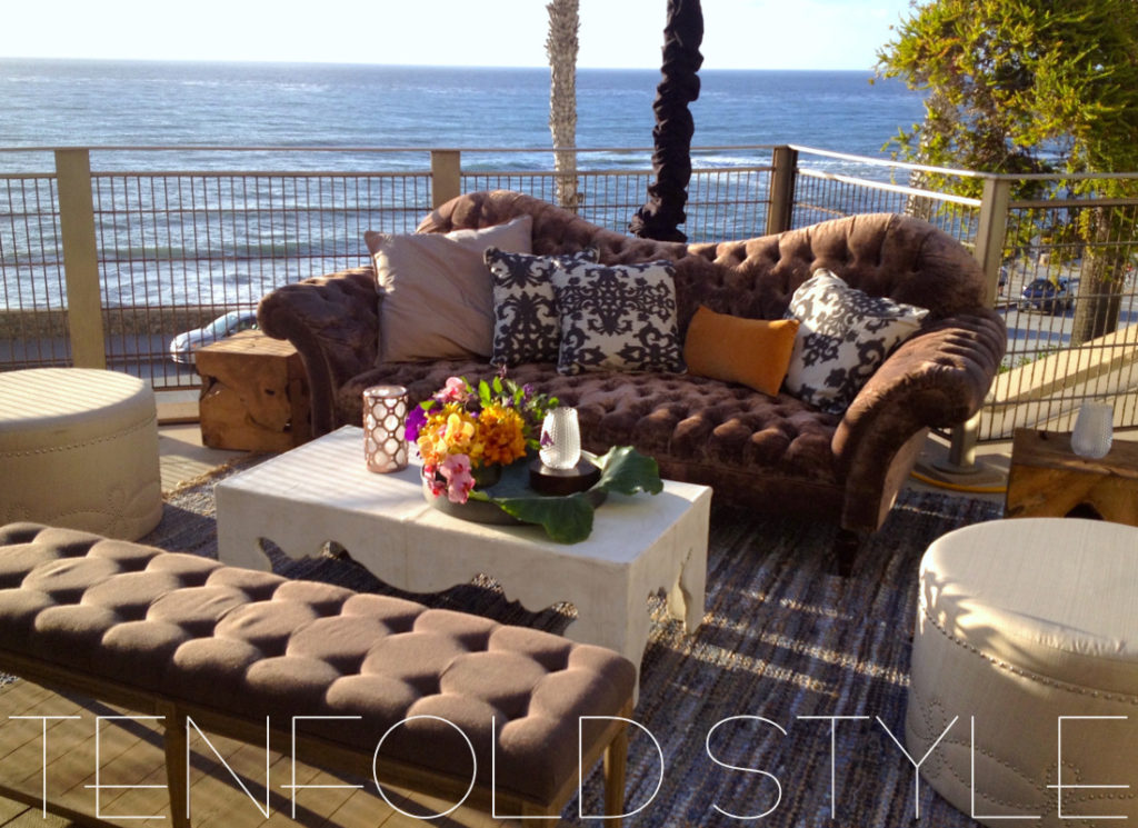 Lounge overlooking the ocean Tenfold Style