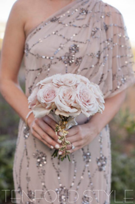 Dusty Rose bridesmaid bouquet Tenfold Style