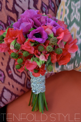 tropical poppy bouquet