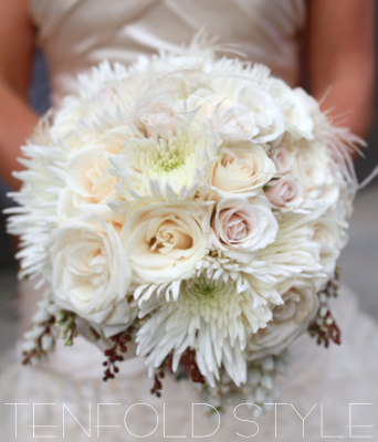 soft white feathery bouquet