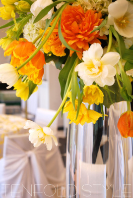 Springtime flower centerpiece