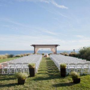Ocean View wedding ceremony Tenfold Style